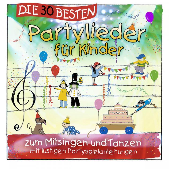 Die 30 besten Partylieder für Kinder: Sommerland,Simone, Glück,Karsten, Die Kita-Frösche