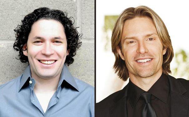 Gustavo Dudamel, Eric Whitacre und Gustavo Dudamel mit dem Grammy geehrt