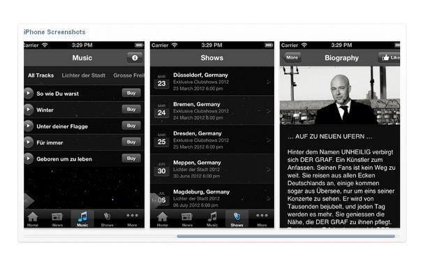 Unheilig, Infos für unterwegs und zwischendurch: Die Gratis Unheilig-App