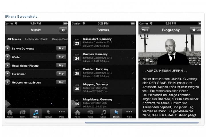Unheilig iPhone App