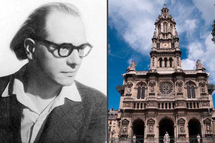 Olivier Messiaen und Eglise de la trinité Paris