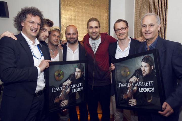 David Garrett bekommt Goldene Schallplatte für Legacy