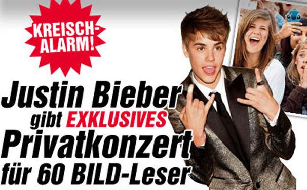 Justin Bieber, Privat-Konzert in Berlin - Seid live dabei!