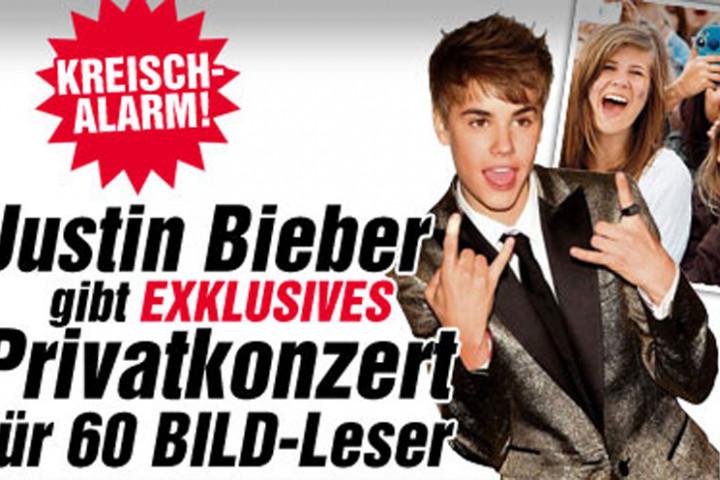 Justin Bieber Privat Konzert Bild