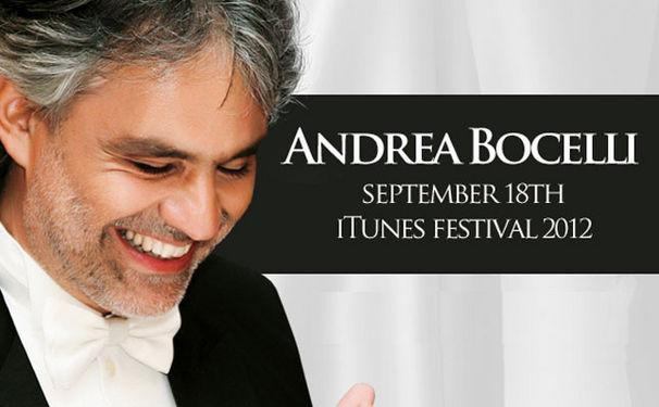 Andrea Bocelli, Andrea Bocelli beim iTunes-Festival 2012