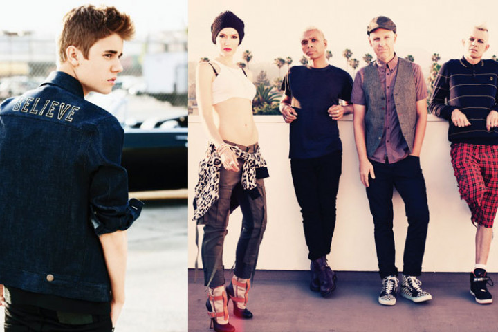 No Doubt und Justin Bieber bei Teen Choice Awards