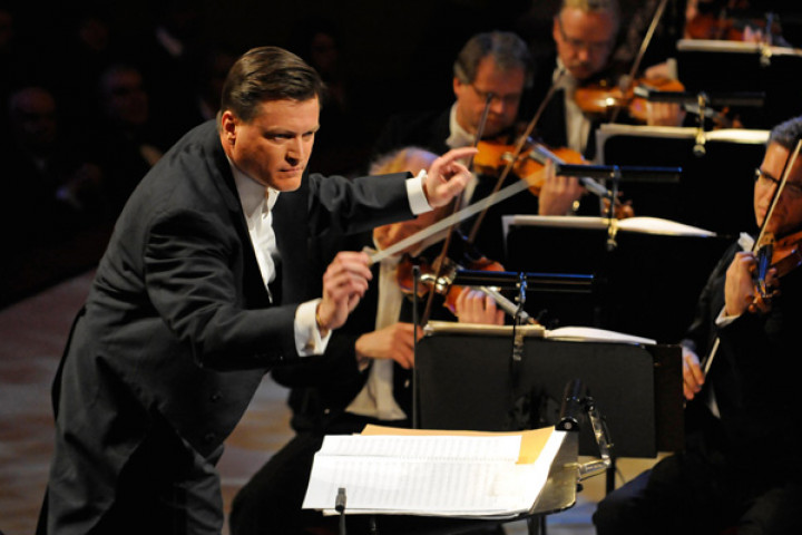 Dirigent Christian Thielemann und die Sächsische Staatskapelle Dresden