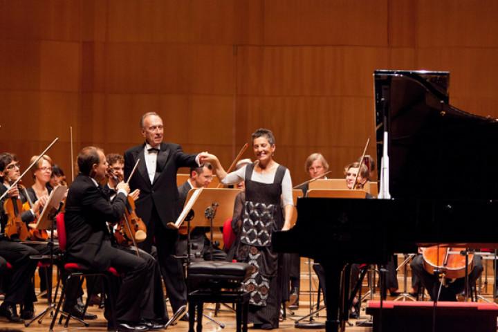 Maria João Pires und Maestro Claudio Abbado