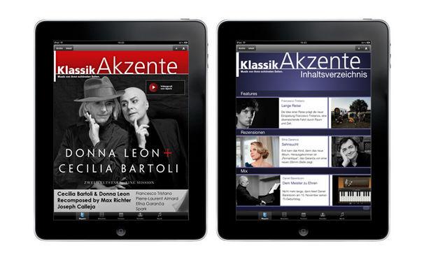 Die zweite Ausgabe der KlassikAkzente iPad App ist da