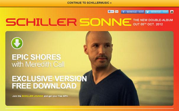 Schiller, Schiller Website www.SchillerMusik.de ganz im Zeichen der Sonne