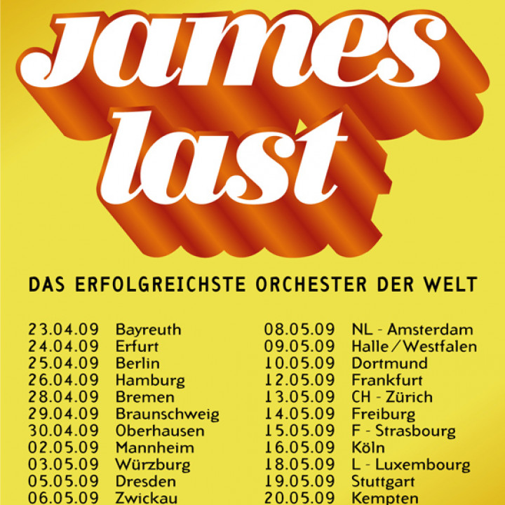 James Last Tourplakate
