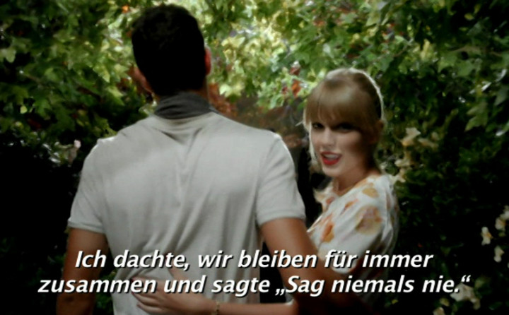"Taylor Swift - ""We Are Never Ever Getting Back Together"" (Deutsche Untertitel)"