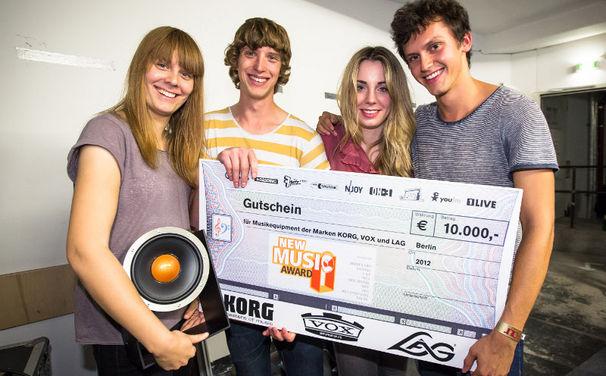 Tonbandgerät, Tonbandgerät haben den New Music Award 2012 gewonnen