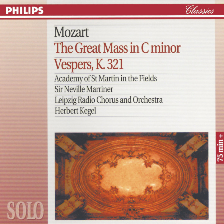 Mozart: The Great Mass in C Minor; Vesper K.321