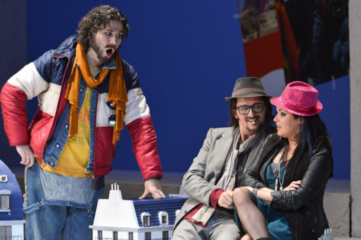 "Piotr Beczala (Rodolfo) und Anna Netrebko (Mimì) in ""La bohème"""