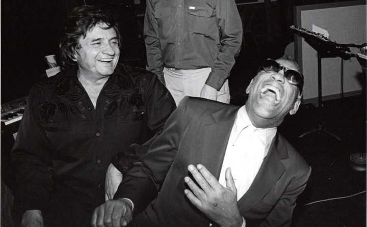 Ray Charles mit Johnny Cash