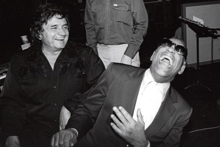Ray Charles mit Johnny Cash