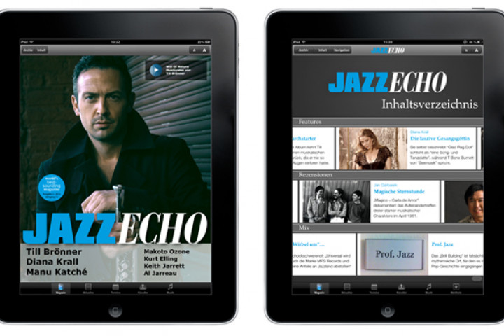 JazzEcho iPad App Ausgabe 02/2012 mit Till Brönner