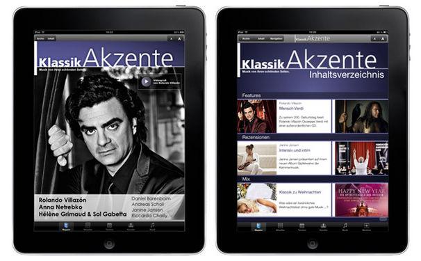 Eine neue Ausgabe der KlassikAkzente iPad App ist erhältlich