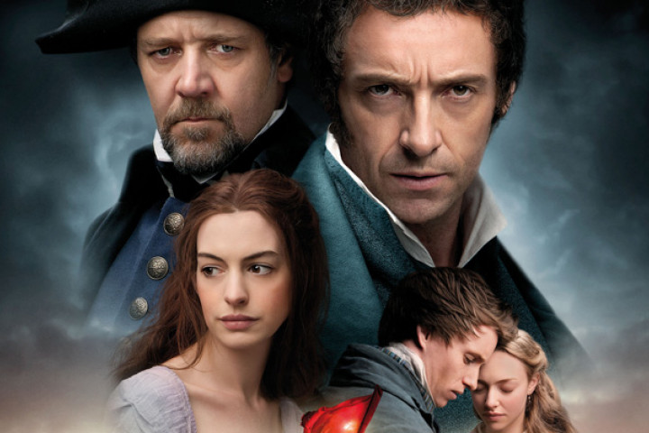 Les Misérables im Kino mit Anne Hathaway, Russell Crowe, Hugh Jackman, Sasha Baron Cohen, Helena Bonham Carter u.a.