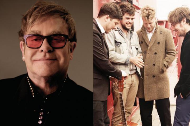 Elton John und Mumford & Sons bei den Grammys 2013