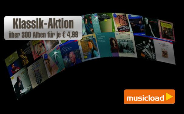 Mehr als 300 Klassikalben für 4,99 EUR bei Musicload