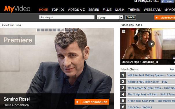 Semino Rossi, Die Videopremiere von Bella Romantica von Semino Rossi