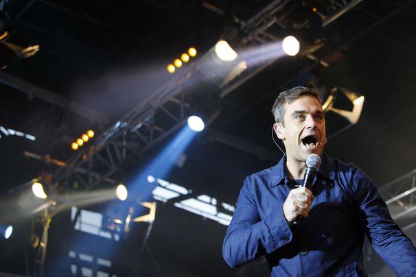 Robbie Williams, Robbie Williams live: Werft einen Blick hinter die Kulissen