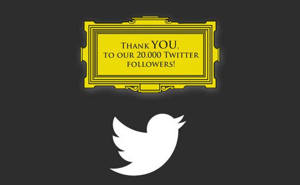 Deutsche Grammophon feiert 20.000 Twitter-Follower