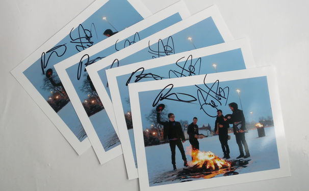 Fall Out Boy, Gewinne ein handsigniertes Foto von Fall Out Boy