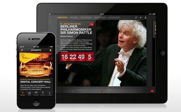 Die Berliner Philharmoniker, Digital Concert Hall der Berliner Philharmoniker als App für iOS