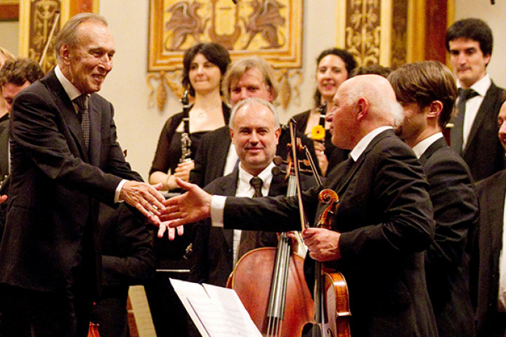 Claudio Abbado mit dem Orchestra Mozart 2012 im Wiener Musikverein