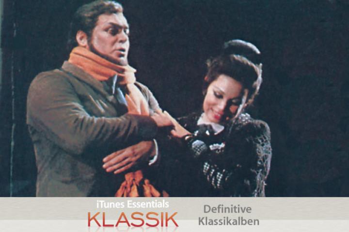 Luciano Pavarotti und Mirella Freni in Giacomo Puccinis 'La Bohème' 1973