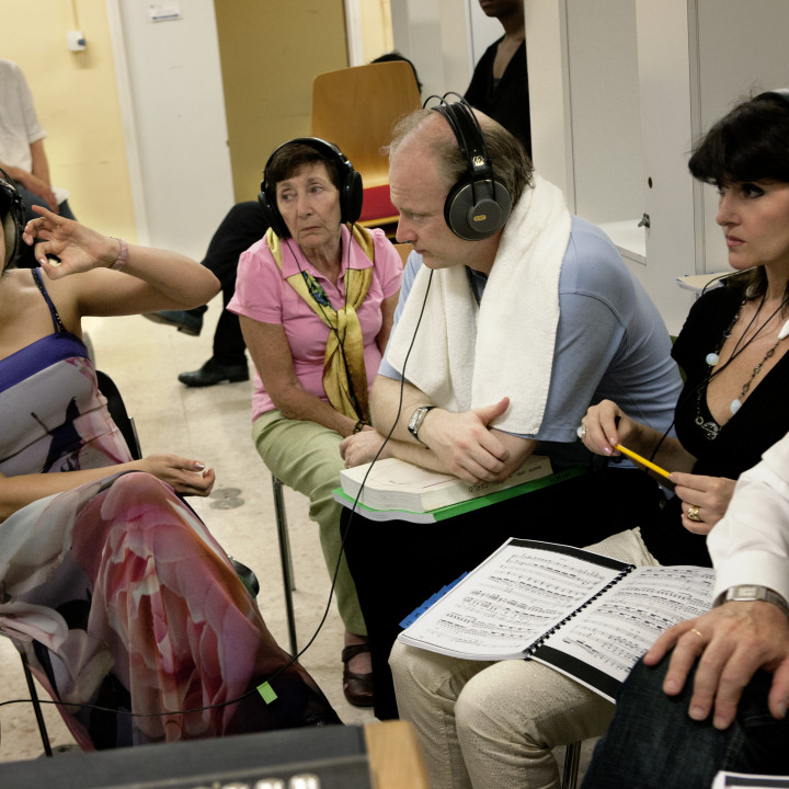 Anna Netrebko bei Aufnahmen zum Album 'Verdi' im Teatro Regio, Turin, Italien