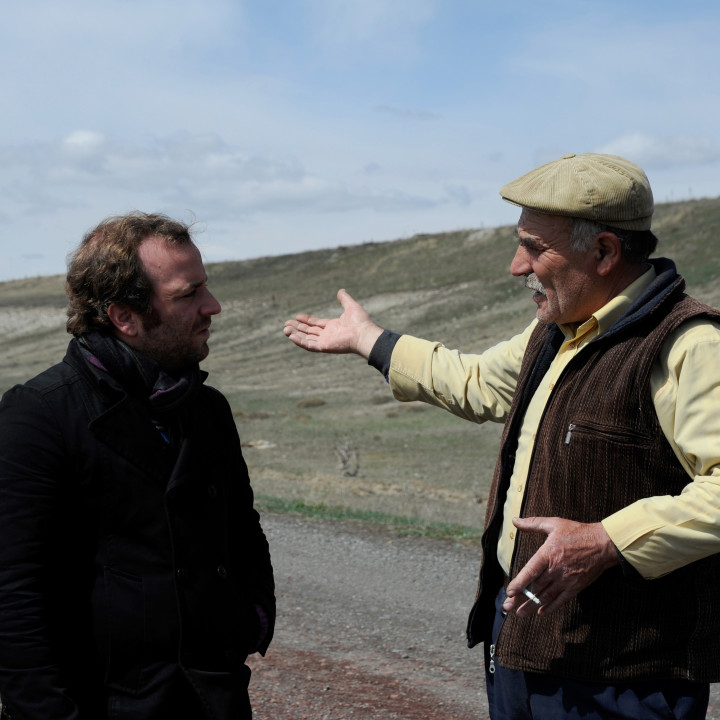 Marc Sinan meeting the native of Kars (Turquey)