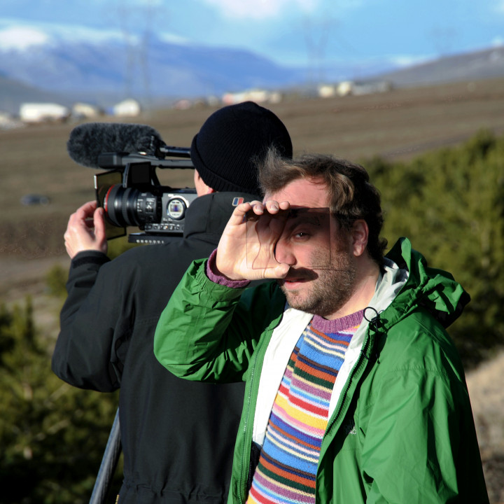 Marc Sinan with the cameraman on his journey to Anatolia