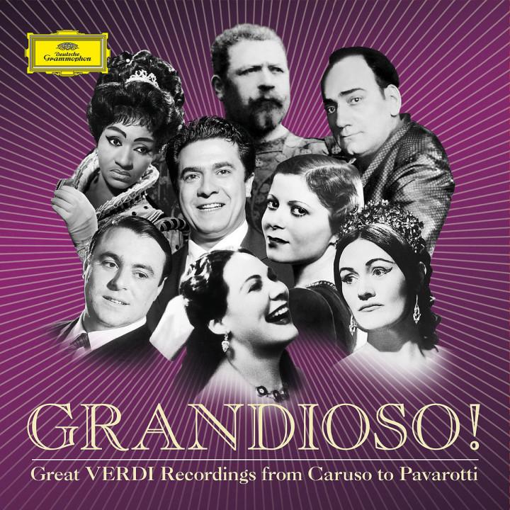 GRANDIOSO! Verdi - Von Caruso bis Pavarotti: Caruso/del Monaco/Kipnis/Tebaldi/Pavarotti/+