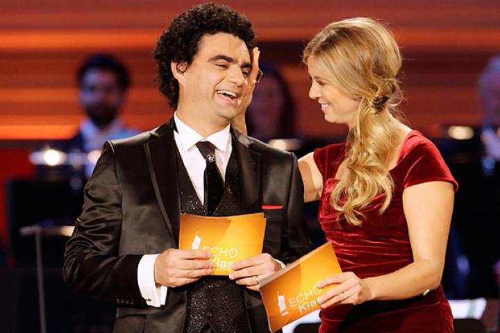 Rolando Villazón und Nina Eichinger bei der ECHO Klassik Verleihung 2012
