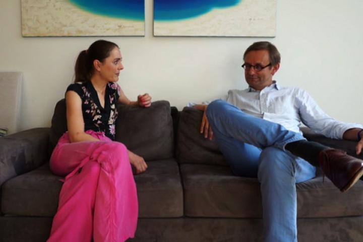Simon Halsey im Gespräch mit Ann Kathrin Bronner