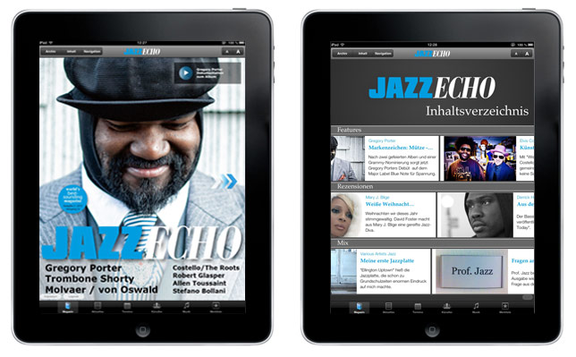Die JazzEcho Jazz iPad App mit Till Brönner