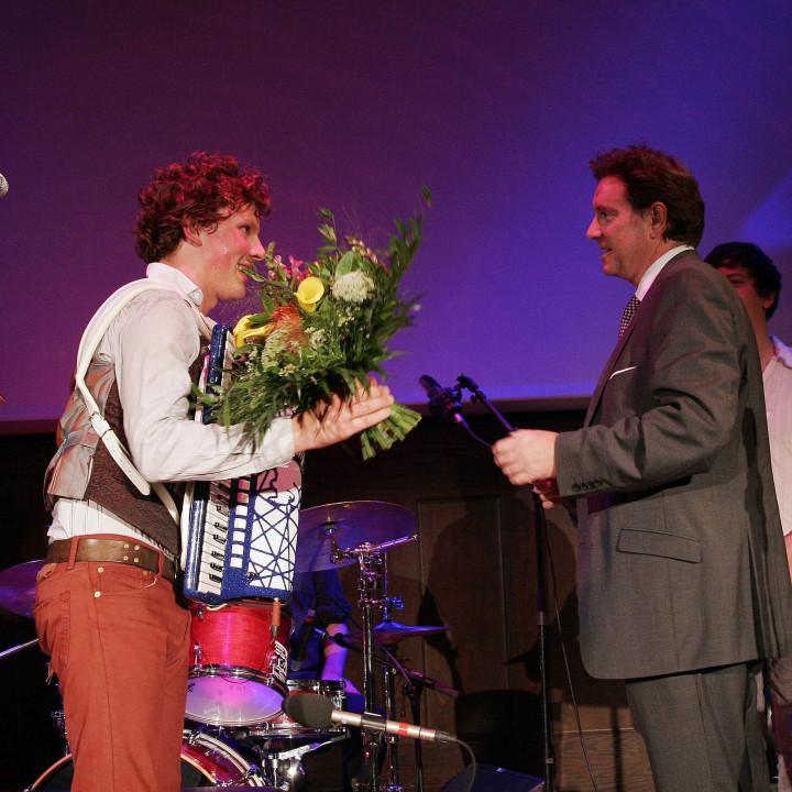 Martynas und Mark Wilkinson (President Deutsche Grammophon)