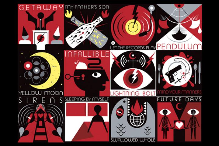 "Collage Single-Artwok ""Lightning Bolt"""