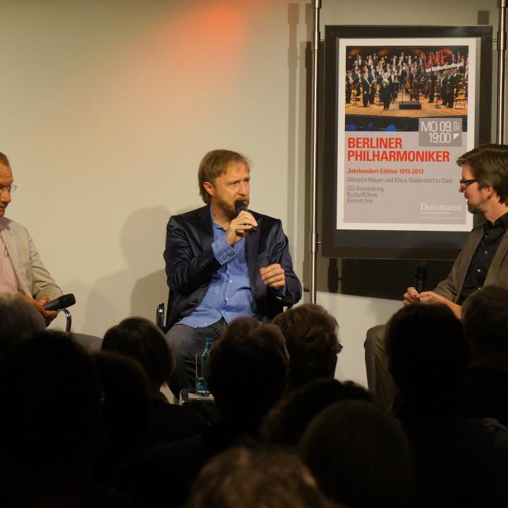 Albrecht Mayer (mitte) und Klaus Wallendorf (rechts) im Interview