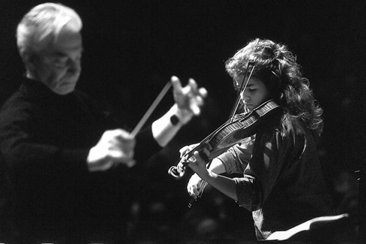 Herbert von Karajan und Anne Sophie Mutter