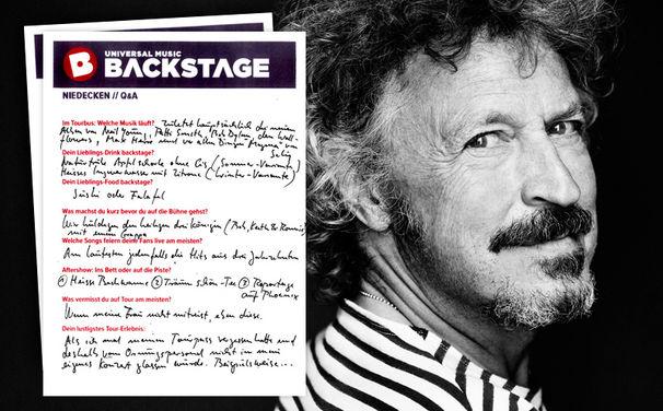 Niedecken, Wolfgang Niedecken backstage: Hier seht ihr das Q&A