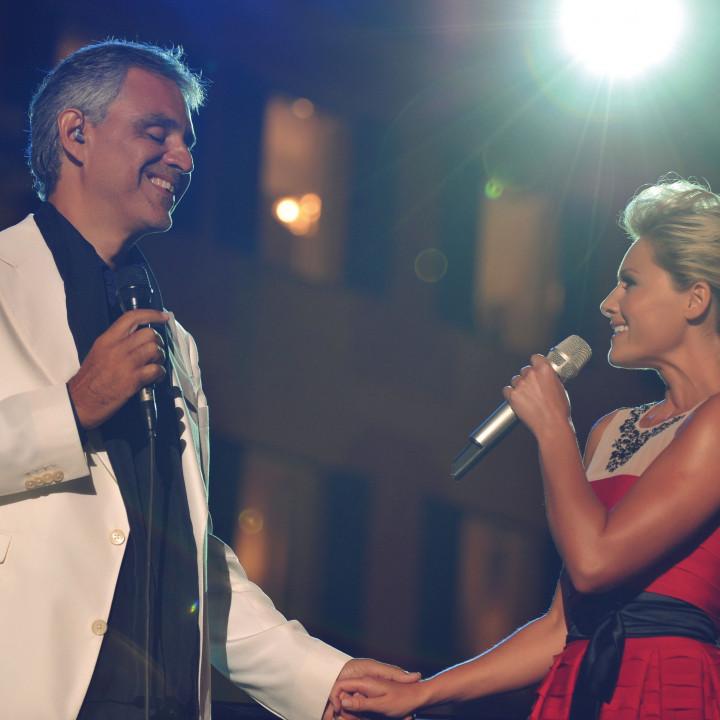 Andrea Bocelli und Helene Fischer