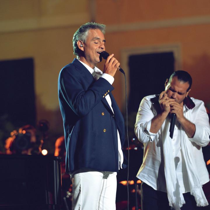 Bocelli und Juan Carlos Albelo Zamora
