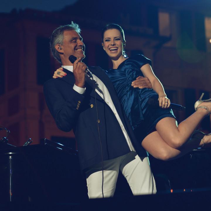 Bocelli und Sandy