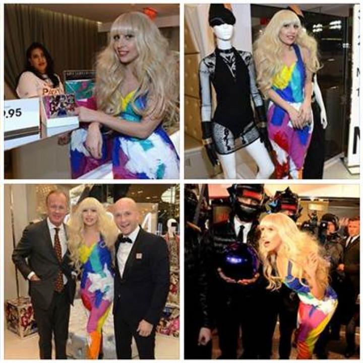 H&M Shop Eröffnung Lady Gaga