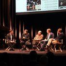 Die App Beethoven 9 wird von den Experten präsentiert: Ruppert Wagg und Stephan Steigleder (Deutsche Grammophon), Max Whitby (Touch Press), Albrecht Mayer und Simon Halsey.